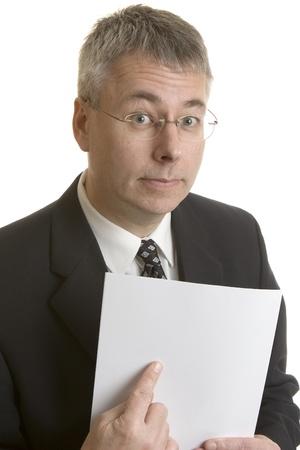 빈 문서를 가리키는 사업가