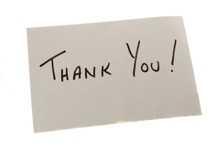 Hand Written Thank You Note Stock Photo - 11677271