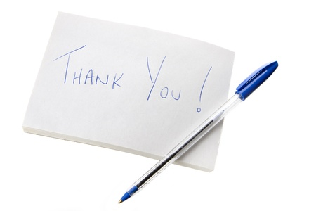 ballpoints: Thank You Note and Pen