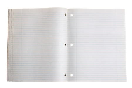 notebook: Blank notebook with copy space