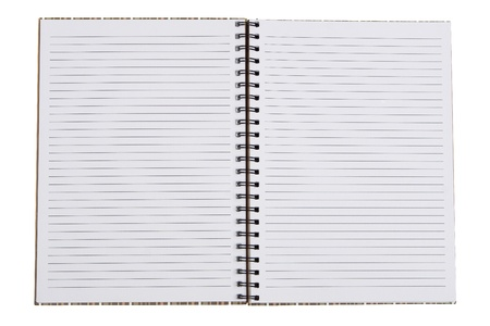 Blank notebook with copy space  photo