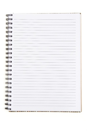 Blank notebook with copy space Stock Photo - 11677264