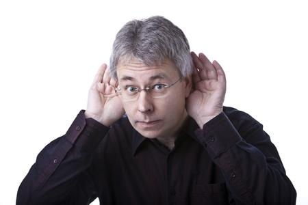 Listening man