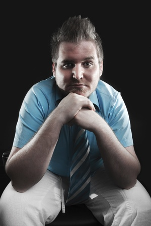 Stereotypical gay man portrait  photo