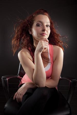 Young woman portrait photo