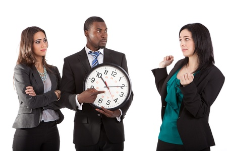 punctual: You`re late business concept