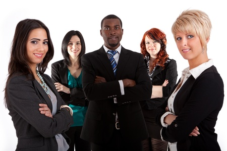 mixed ethnicities: Multi ethnic business team