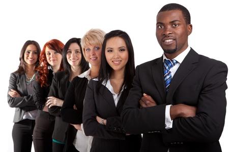 Multi-etnische business team