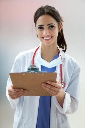 nurse uniform: Doctora o Estudiantes de Medicina Foto de archivo