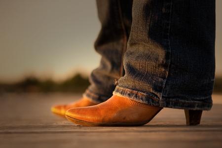 Cowboy boots lady  photo