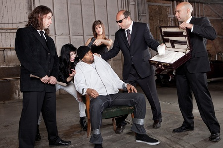 Mafia Interrogation  Stock Photo