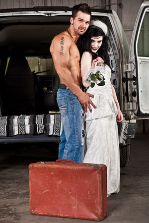 Hillbilly wedding (Shirtless guy, no preacher version)  photo