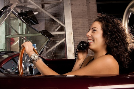 Retro Car Phone conversation Stock Photo - 11700042
