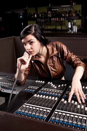 audio: Soundboard technician doing a sound check