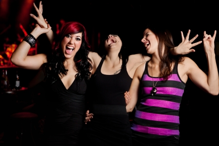 girls night out: Ladies Night at the nightclub Stock Photo