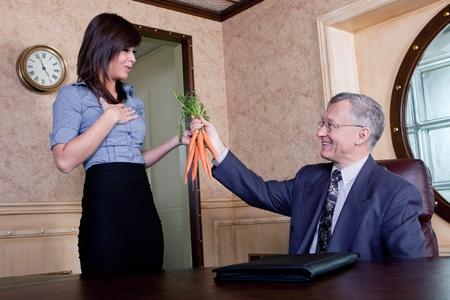 기업 인센티브 프로그램 - 자신의 관리에 집행 매달려 당근 스톡 콘텐츠