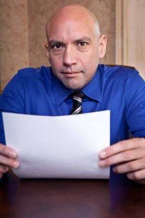 Job interview scrutiny photo