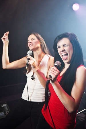 duet: Female singers performing