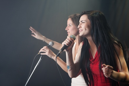 Female singers performing Stock Photo - 12639852