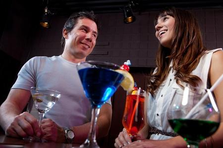 courtship: Friends having fun at a nightclub  Stock Photo