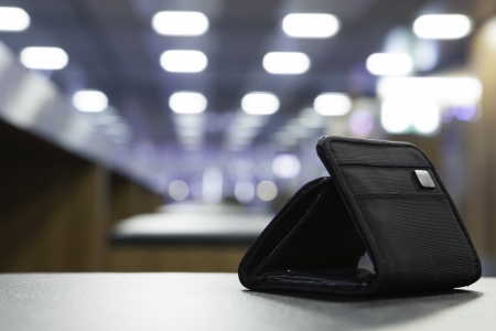 공항에서 무인화물 스톡 콘텐츠
