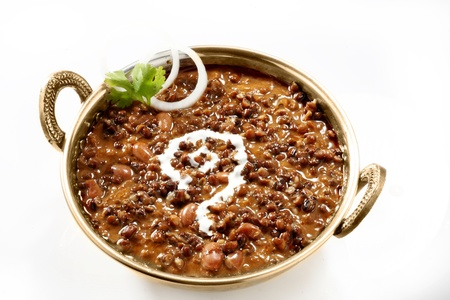 Dal makhani garnished with butter,coriander and onions Stock Photo - 17327279