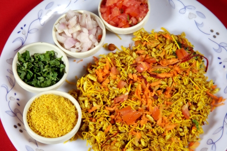 Close-up of bhel puri served in a plate Stock Photo - 17327296