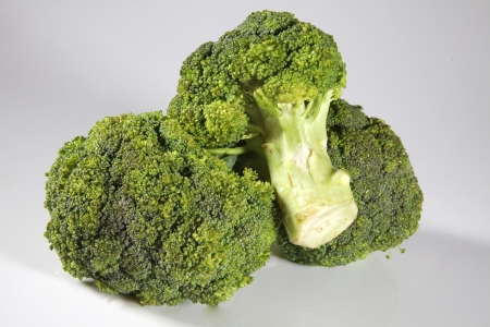 Broccoli on white background Stock Photo - 17327321