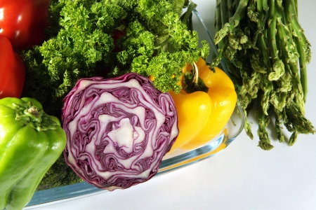 Close-up of fresh vegetables Stock Photo - 17327327