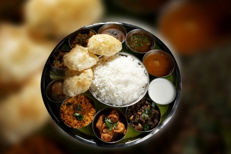 Indian Vegetarian Thali Stock Photo - 17327342