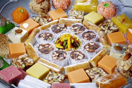 Close-up of different varieties of sweets Stock Photo - 17327343