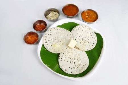 dosa: Kerela dish appam served in a plate