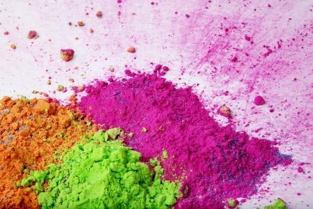 rangoli: Small heaps of holi colors
