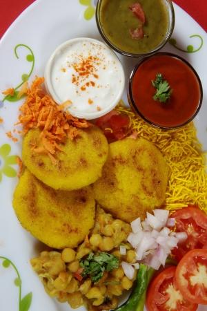 Close-up of ingredients of ragada photo