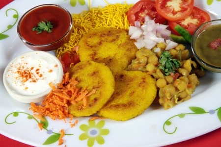Chaat,indian street food Stock Photo