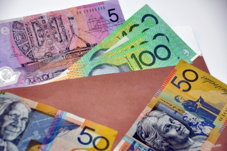 Close-up of australia paper currency photo