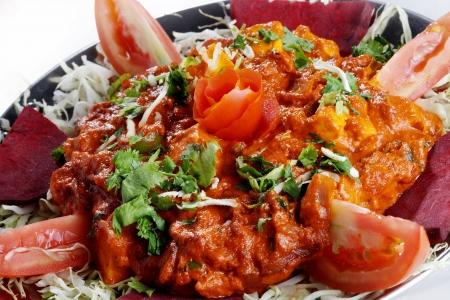 Close-up of indian dish tawa paneer photo