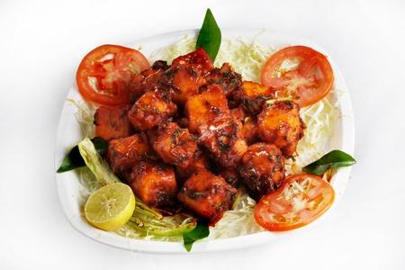 Close-up indian dish paneer 65