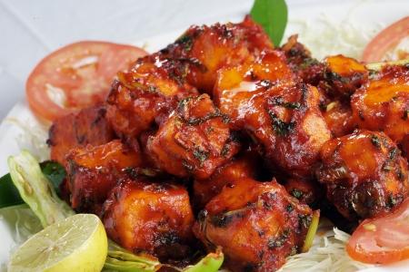 paneer: Close-up indian dish paneer 65