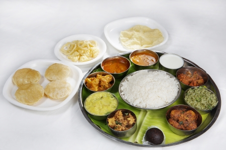 Indian Vegetarian Thali Standard-Bild - 21257662