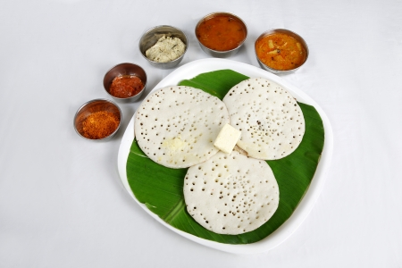 Kerela dish appam served in a plate