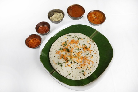Indian breakfast dosa served in a plate Standard-Bild