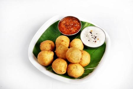 Bondas served in a plate