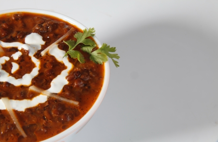 Close-up of dal makhani served in a bowl photo