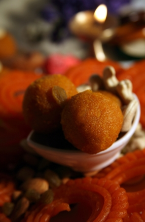Close-up of  traditional Indian sweets photo