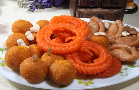 indian cookery: Indian sweets Stock Photo