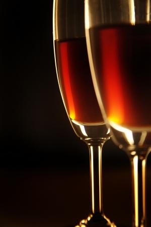 Close up of two wine glasses Standard-Bild