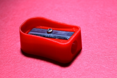 Close-up of a sharpener