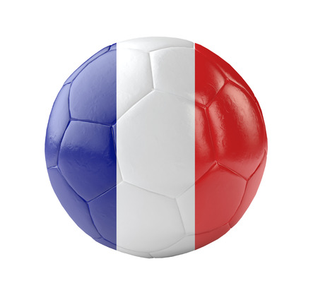 soccer ball france 3d photo