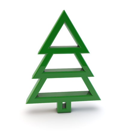 a tree: 3d christmas tree symbol Stock Photo